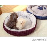 원형 애완 동물 침대를 인쇄하는 개 공급 발 Emborider 뼈