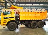 중국 POWSUN 상표 6*4 광업 쓰레기꾼 트럭
