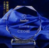 Concesión del arte de la calidad del vidrio cristalino del balompié para el recuerdo