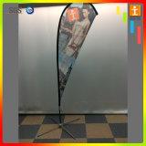 De openlucht Vliegende Vlag van de Veer van de Polyester van de Reclame, de Vlag van het Strand van de Traan