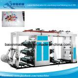 máquina de impressão Flexographic de alta velocidade do saco de compra da película 4color plástica