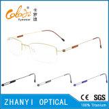 Рамка просто Semi-Rimless Titanium стекел Eyeglass Eyewear оптически (8507)