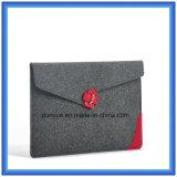 Luva personalizada da pasta do portátil de feltro de lãs do presente, saco do portátil da forma do envelope da promoção com Closing da curvatura (o índice de lãs é 70%)