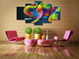 HDは多彩な象の絵画キャンバスの版画室の装飾プリントポスター映像のキャンバスMc074を印刷した