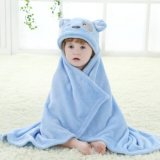 Conjunto encapuchado de la toalla de baño del león suave querido del bebé