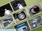 IP68 Headlamp CREE 3W 220lm 15000lux, Caplamp горнорабочей