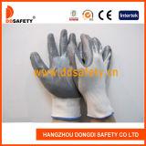 Handschoenen van het Werk van Ddsafety 2017 13G de Witte Nylon Grijze Nitril Met een laag bedekte