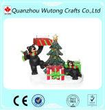 Supporto di candela alla moda dell'orso dell'orsacchiotto dell'albero di Natale dell'ornamento della resina di disegno