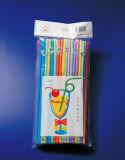 palhas artísticas bebendo plásticas de 6*270mm