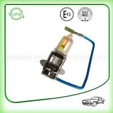 Lampada dorata luminosa eccellente dell'indicatore luminoso della testa dell'automobile della lampada alogena H3 100W
