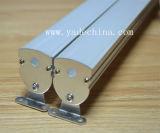 Profil en aluminium à ailettes rond avec le jeu de couverture givrée, opale ou transparente et de monture