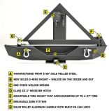 Qualitäts-hinterer Selbstanschlagpuffer mit Reservereifen-Träger