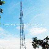 3개의 다리 관 강철 격자 셀룰라 전화 통신 타워