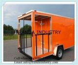 Chariot de service d'hamburgers de chariot de nourriture à l'extérieur