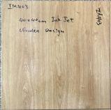 Azulejo de suelo rústico esmaltado mirada de madera de la inyección de tinta