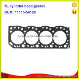 Guarnizione del motore della guarnizione della testata di cilindro del ferro 5L 11115-54120 per Toyota