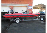 Aqualand 19feet 5.8mのガラス繊維の肋骨のボートか堅く膨脹可能なボート(RIB580T)