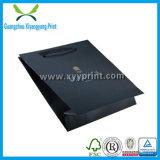 PPのハンドルが付いている熱い販売の普及したペーパー黒のギフト袋