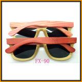 Parte superior Fx-90 que vende Sunglass de bambu com caso de madeira de Sunglass