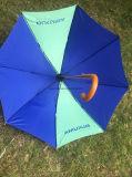 Parapluie en bois 23 po et poignée en bois avec tissu en nylon de 190t