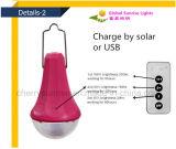 Indicatore luminoso di campeggio d'attaccatura esterno portatile della lampada della lanterna di energia solare del LED