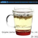 飲むことのための3部分のティーカップのガラス製品