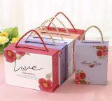 Boîte-cadeau portative de mariage de rectangle, boîte-cadeau de sucrerie, caisse d'emballage de cadeau