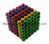 Esfera colorida magnética aglomerada do Neodymium D5mm para brinquedos das crianças