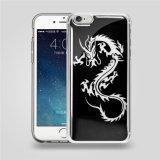 Caisse de téléphone de densité d'impression transparente en gros de la coutume PC+TPU de la Chine anti pour couverture transparente de caisse de téléphone de la densité 6 de l'iPhone 5 l'anti