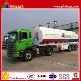 De 3 essieux de camion-citerne d'essence remorque d'essence et d'huile semi