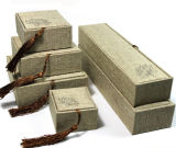 Rectángulo de regalo de cuero del embalaje de la joyería del rectángulo de almacenaje de la joyería del terciopelo (YS105)
