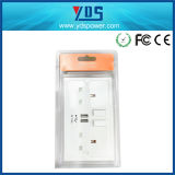Cargador del socket/USB del USB/socket de pared de la pared Outlet/UK Socket/USB