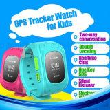 2g GSM GPS van Kinderen het Horloge van de Drijver met de Groef van de Kaart SIM