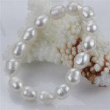 Рис Snh 10mm ожерелье и браслет Wedding пресноводный комплект перлы