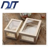 Прозрачная пылезащитная стеклянная Desktop деревянная коробка хранения