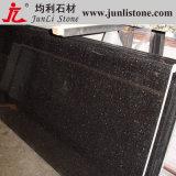 Golden negro Flower Slab Marble para Countertop y Worktop