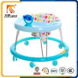 シリコーンの車輪を持つプラスチック簡単な円形の赤ん坊の歩行者