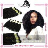 Человеческие волосы перуанских глубоких волос девственницы волны курчавых Unprocessed соткут перуанские курчавые волос