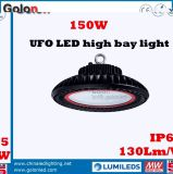 130lm/W Dimmableセンサー防水UFO 200W LED高い湾ライト
