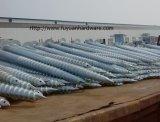 Кучи винта солнечной установки фабрики земные
