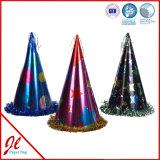 Sombreros del partido de la hoja/sombrero de papel de la estafa del partido/sombrero de papel metálico