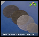 Aço inoxidável 304 filtros de engranzamento do fio, discos do filtro do aço inoxidável