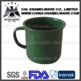 China vende por atacado a caneca cerâmica certificada FDA do esmalte para ao ar livre