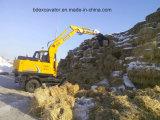 Nuevo pequeño excavador amarillo de la correa eslabonada con la máquina Catching de la caña de azúcar del gancho agarrador