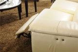 Jogo italiano luxuoso discreto do sofá do Recliner do projeto