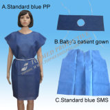 Abito paziente a gettare del chirurgo non tessuto di PP/SMS/PP+PE/Medical//Hospital