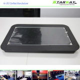 Kundenspezifische schwarzes Puder-überzogene Metallherstellung-Teile (schwarzes Puder-überzogener Stahl)