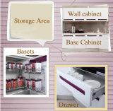 Lustro elevado da laca nos gabinetes de cozinha de 2 blocos (zz-031)