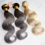 Capelli Burmese di Remy dei capelli di colore di Ombre di due toni