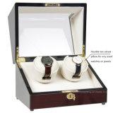 Devanadera automática dual de madera del reloj de la alta calidad